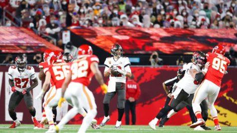 Quarterback Tom Brady during the Super Bowl. (Ben Liebenberg via AP; Deadline)