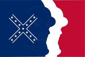 A copy of the Mississippi Ku Klux Klan chapter's reimagined state flag.