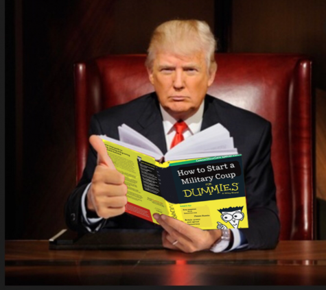"Donald Trump Caught Reading ""How To Start a Military Coup for Dummies"""
