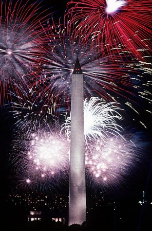 The Washington Monument on The Fourth of July