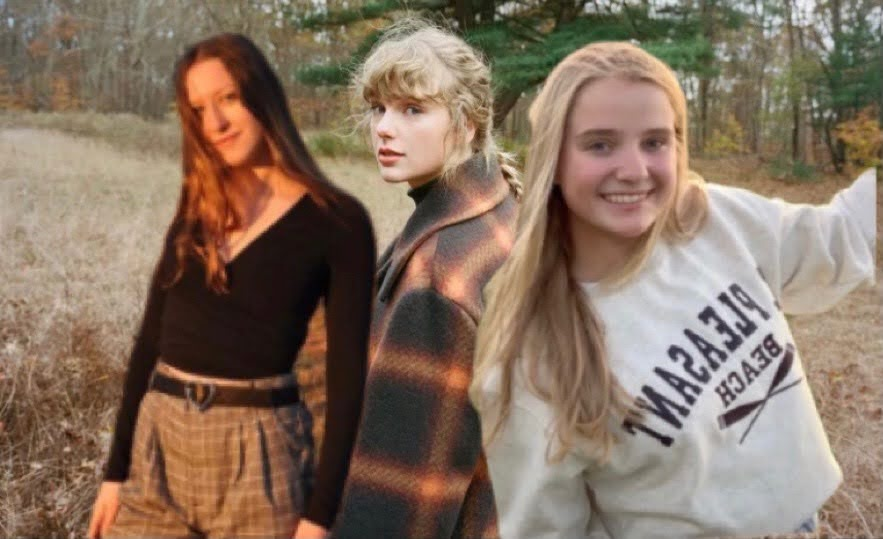 Payton and Reese frolicking in a field with the one and only Taylor Swift