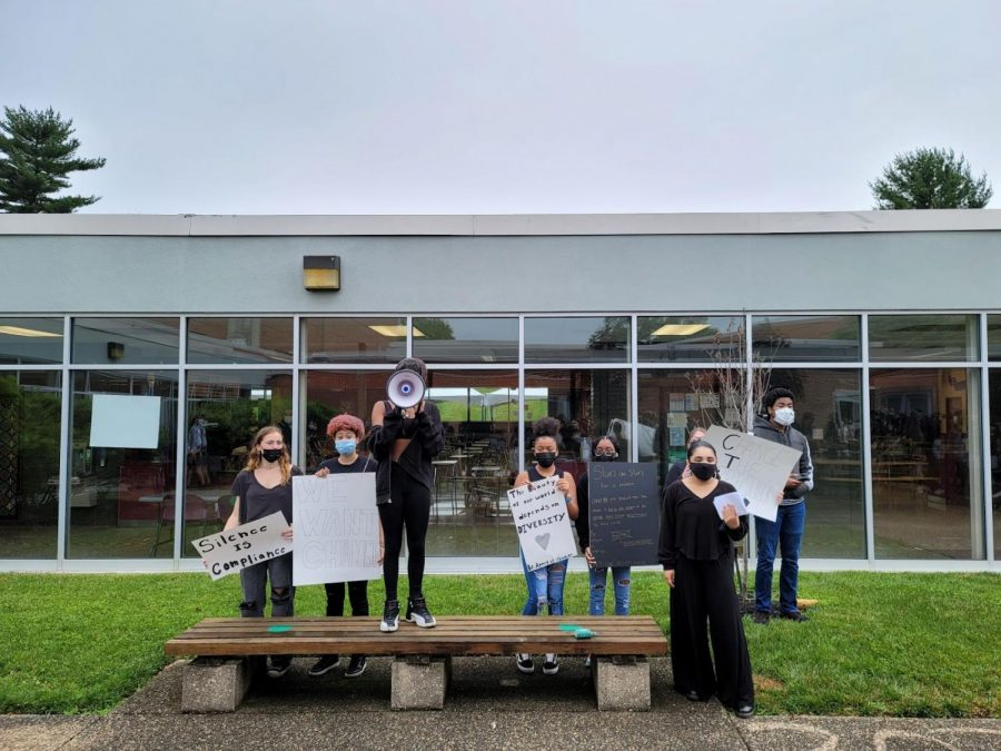 Students walk out for better equity + inclusion and change to history curriculum