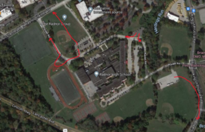 Map of Radnor High School Parking and Exit Routes
